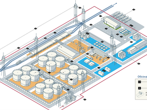 Генеральный план типовой нефтебазы
