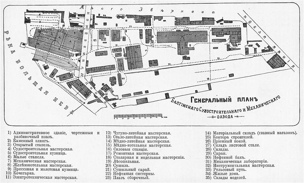 генеральный план судостроительного и механического завода
