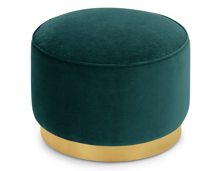 Green Velvet Pouff