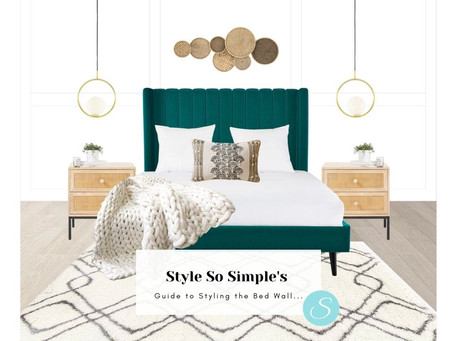 Style So Simple's Guide to Styling the Bed Wall...