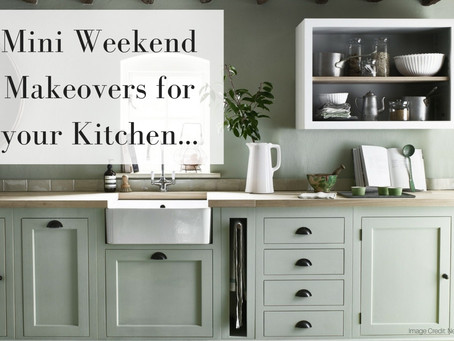 Mini Weekend Makeovers for your Kitchen.. That are simple and affordable!