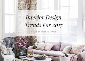 Top Interior Design Trends For 2017
