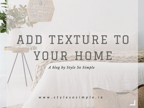How To Add Texture To Your Home For Summer 2017