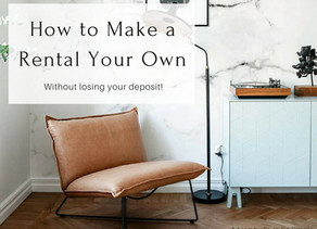 How to Make a Rental Your Own…Without losing your deposit!