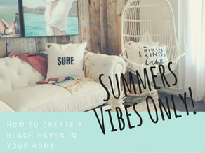 How To Create A Beach Haven In Your Home..Perfect For Summer!