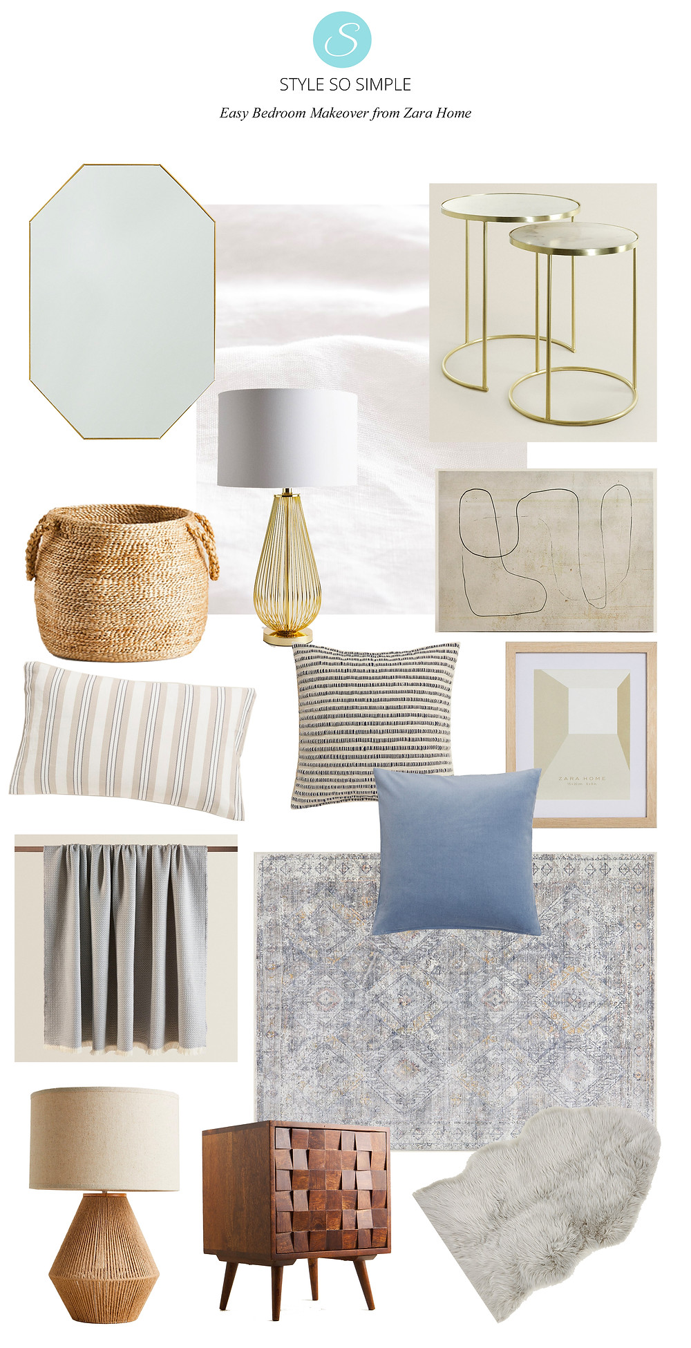 Style So Simple Bedroom Moodboard from H&M