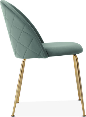 Heather Dining Chair, Velvet Upholstered, Sage Green
