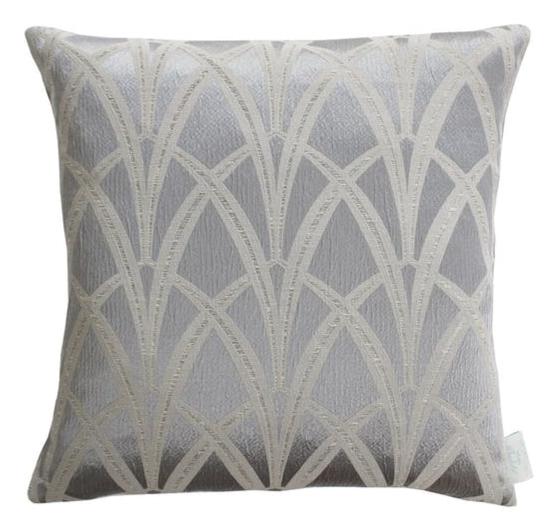Silver decor cushion