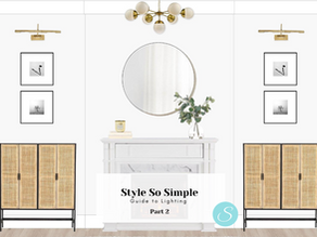 Style So Simple's Guide to Hanging Lighting Part 2...