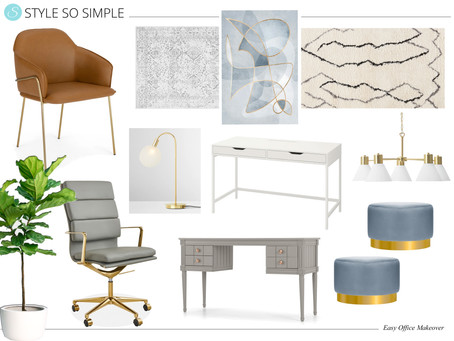 Super Simple Office Makeover by Style So Simple