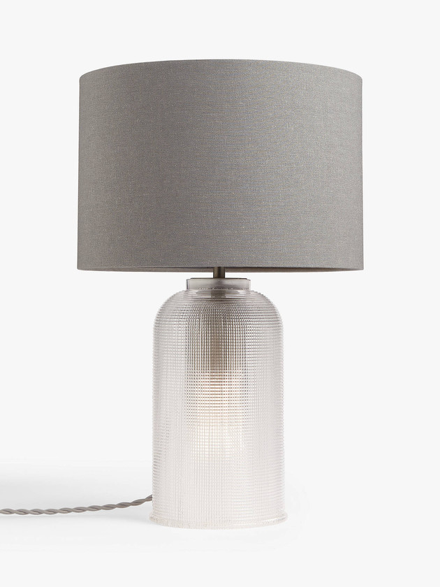 Glass Dual Lit Table Lamp, Clear