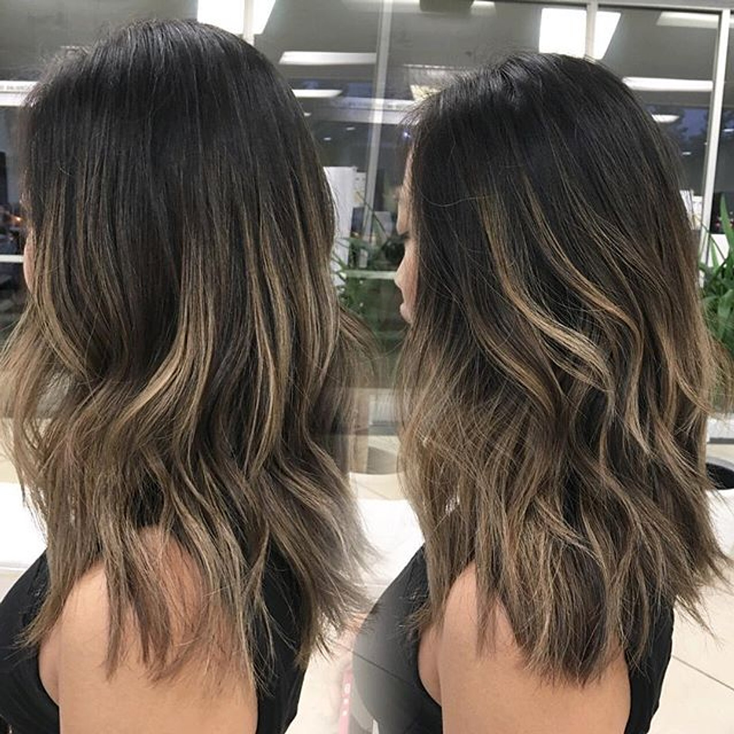 Babylights to brighten up her old balayage