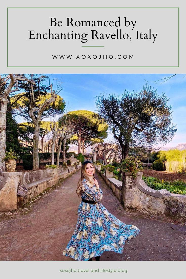 travel girl blogger exploring ravello italy amalfi coast in the winter fashion