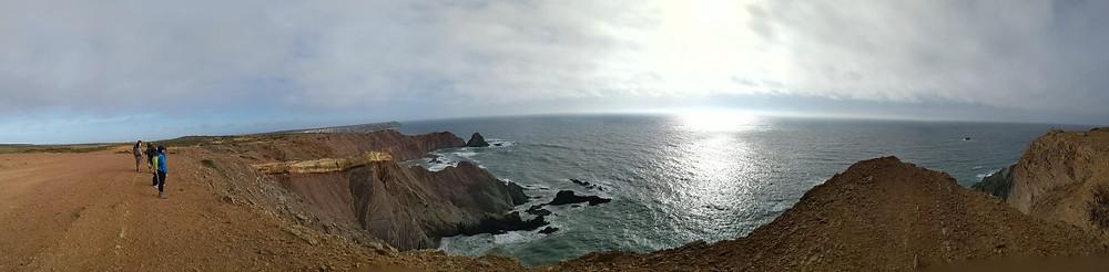 Landscape photography of beautiful portugal golden coastline.