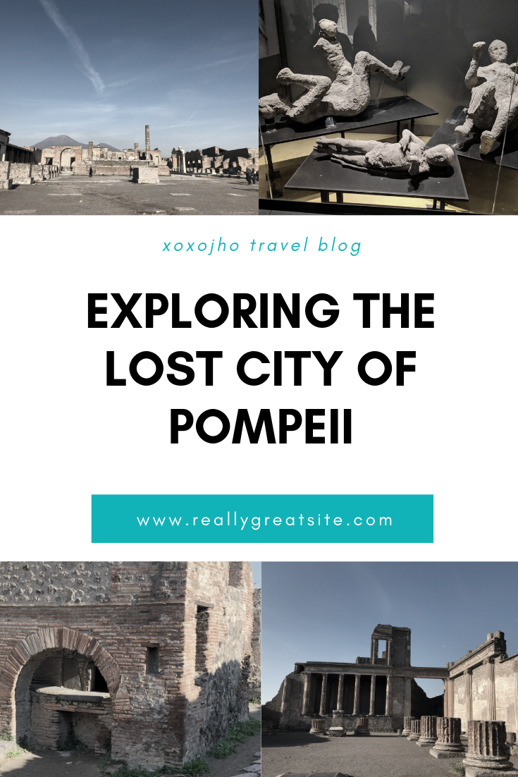 photograph of asian girl travel fashion blogger exploring lost city of pompeii in italy europe