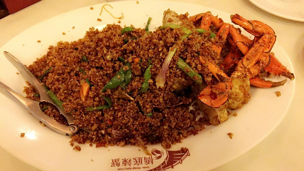 Delicious spicy crab at famous Hong Kong restaurant Under Bridge Spicy Crab. Travel foodie blog on xoxojho