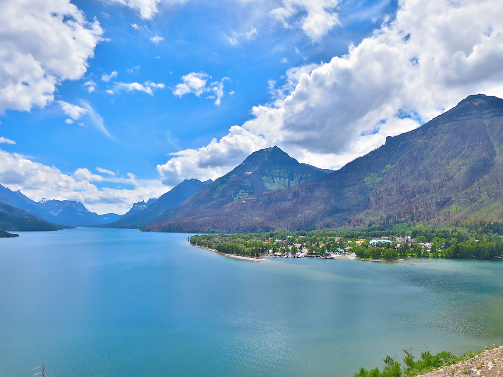 Beautiful landscape photograph of Waterton Lakes National Park in Alberta Canada. Explore and love the gorgeous rocky mountains.