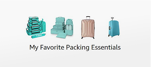 My favorite travel packing essentials on amazon with prime delivery. XOXOJHO Travel Blog