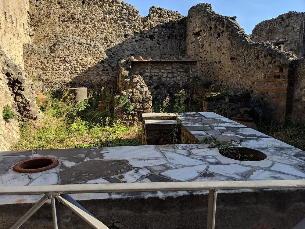 photograph of ancient roman ruins bar restaurant pompeii italy europe