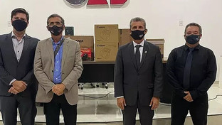 OAB-PB e CAA-PB entregam a Subseção de Guarabira equipamentos para sala de audiência virtual