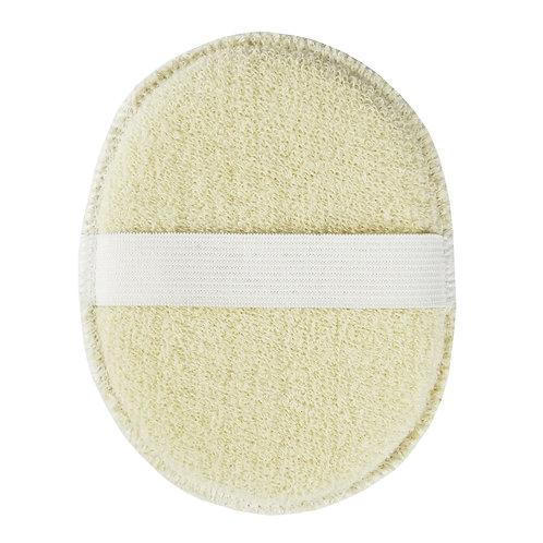 Éponge visage en coton bio Avril - Dimensions 14 cm x 11,5 cm