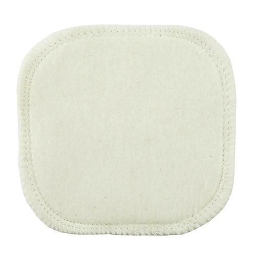 Carré démaquillant en  coton bio - 10 cm x 10 cm