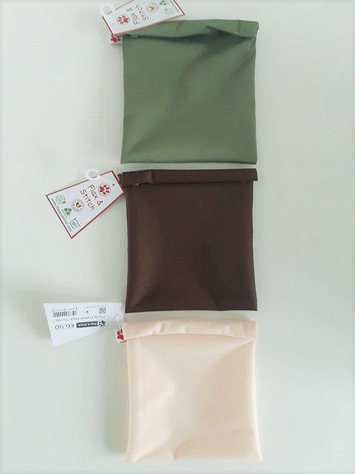 Sac de congélation réutilisable -  Petit - Fermé 15 cm x 15 cm - Couleurs 2
