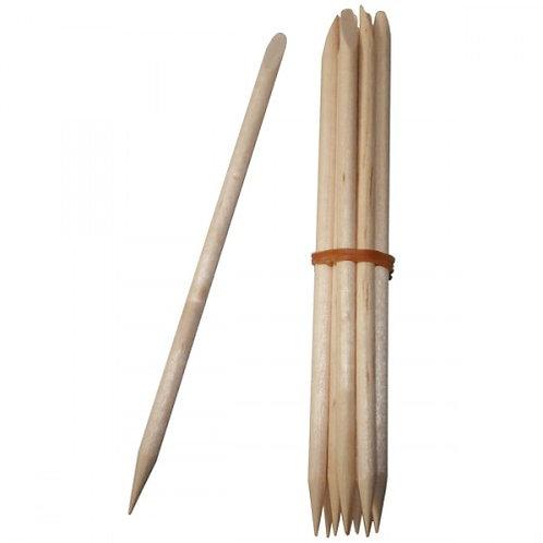 Lot de 10 repousse cuticules en bois Avril
