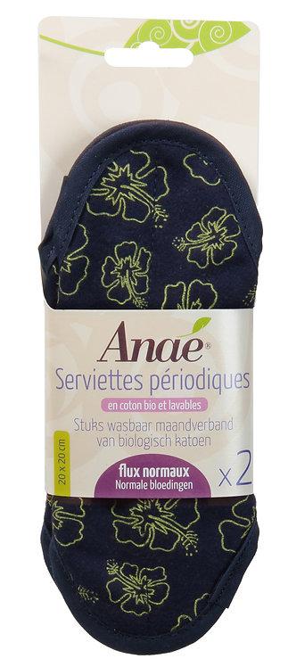 """Lot de 2 serviettes hygiéniques lavables """"Ibis"""" en coton bio"""