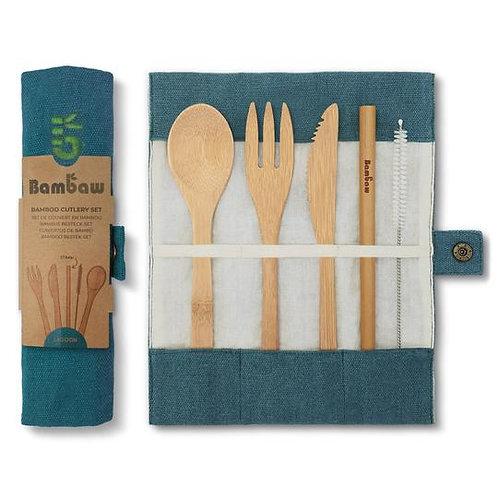 Set de couverts en bambou - 4 coloris disponibles