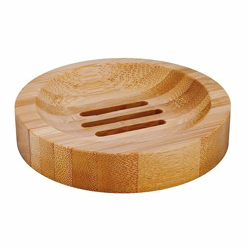 Porte-savon rond en bambou, biodégradable, 100 % recyclable, végan