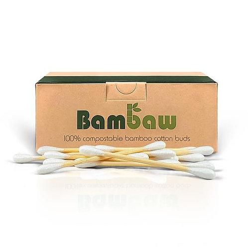 Boîte de cotons-tiges en bambou et coton bio (boîte de 200 ou de 400 au choix)
