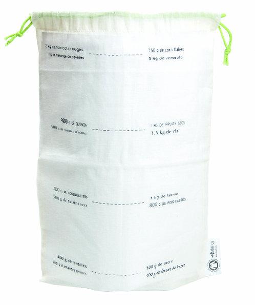 Lot de 5 sacs gradués en coton bio - Taille M