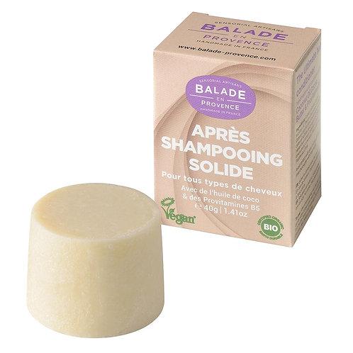 Après-shampoing solide - tous types de cheveux - bio et végan - 40 g