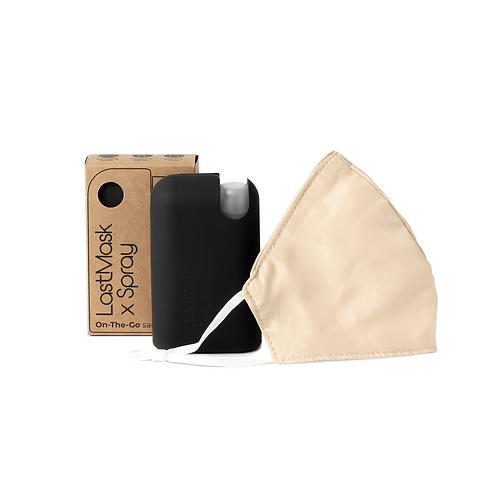 Kit LastMask : 1 masque hygiénique, 1 flacon pulvérisateur, 1 étui en silicone