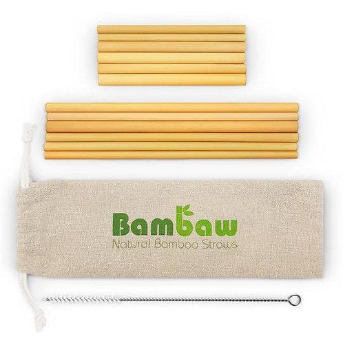 Set de 12 pailles en bambou (6 pailles x 22 cm et 6 pailles x 14 cm)