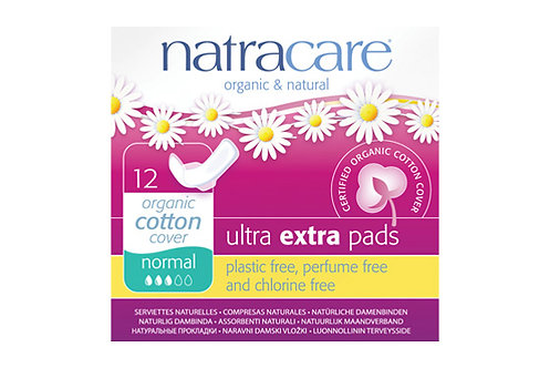 Serviettes hygiéniques Ultra Extra - normales - avec ailettes - 12 serviettes
