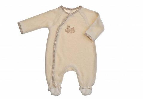 Pyjama dors bien en coton bio - motif lapin - écru