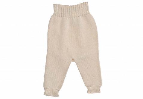 Pantalon en tricot, sans pied, en coton bio (été/hiver)