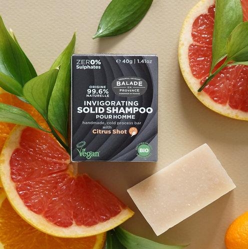 Shampoing solide revigorant pour hommes - bio et végan - 40 g