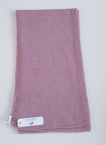 Écharpe 100 % cachemire - Couleur Abraham (vieux rose) - Riviera Cashmere