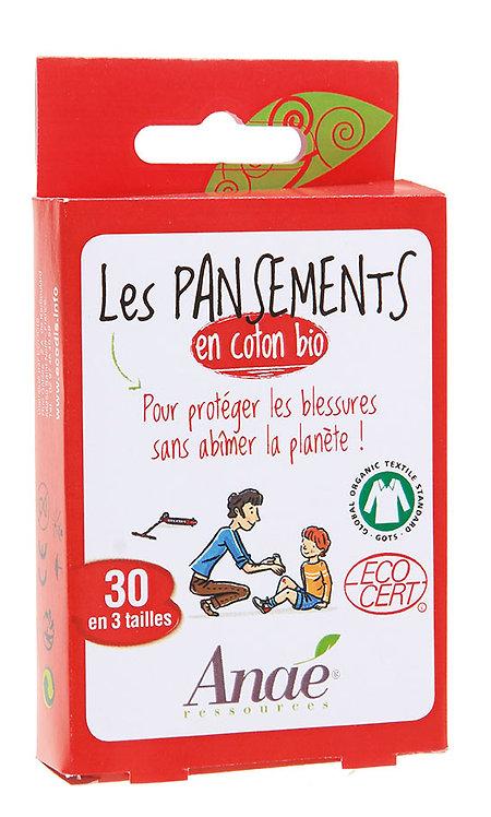 Boîte de 30 pansements en coton bio
