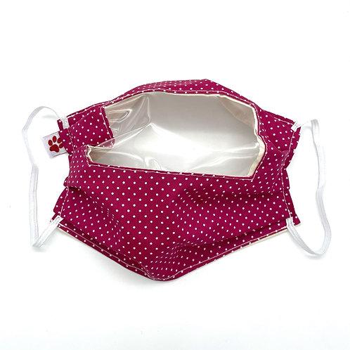 Masque en tissu avec pince-nez filaire (adulte) - avec fenêtre transparente