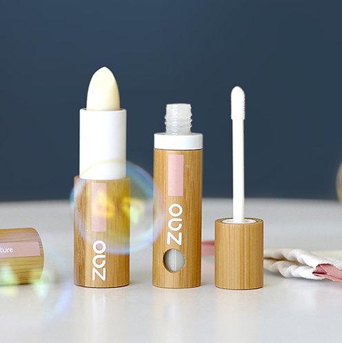 Baume à lèvres fluide bio et végan (rechargeable)