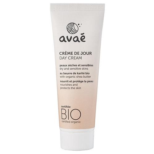 Crème de jour pour peaux sèches et sensibles certifiée bio Avaé - 50 ml