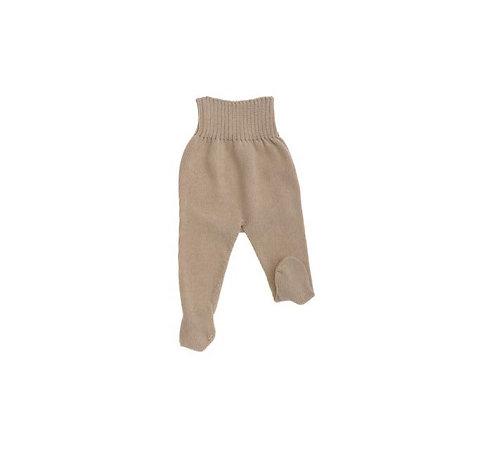Pantalon en tricot sans coutures, coton bio, renfort couche, écru ou beige