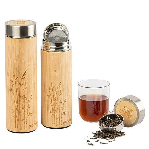 Thermos à thé en bambou - 360 ml ou 480 ml au choix