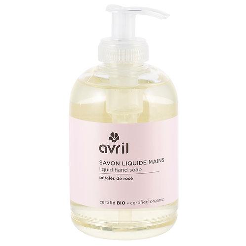 Savon liquide pour les mains aux pétales de rose bio et végan - 300 ml