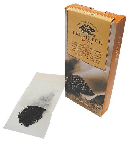 Boîte de 100 pochettes de filtres à thé