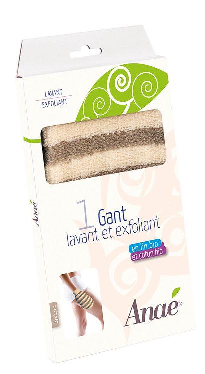 Gant lavant et exfoliant (en coton et en lin bio)